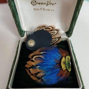 Jewelry - Large Peacock Earrings NWOT